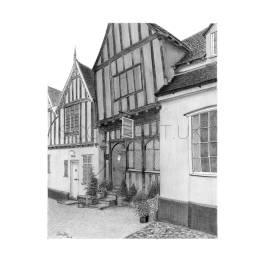 Crooked House, Lavenham, Suffolk A4 Print