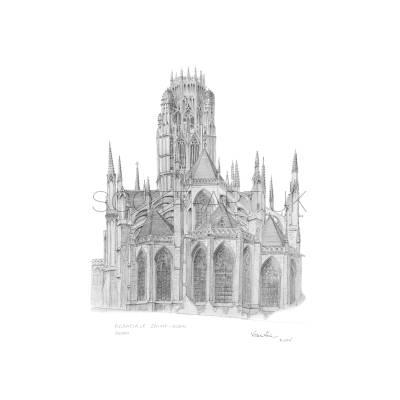 Church of St Ouen, Rouen, France