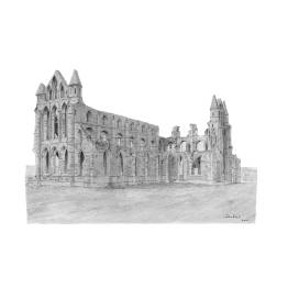Whitby Abbey, Yorkshire A4 print