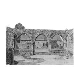 Beaulieu Abbey Ruins, Hampshire A4 Print
