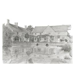 Flatford Mill, Suffolk A4 Print
