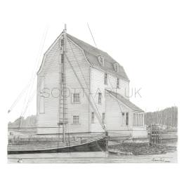 Woodbridge Tide Mill, Suffolk A5 print