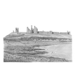 Dunstanburgh Castle, Northumberland A4 Print