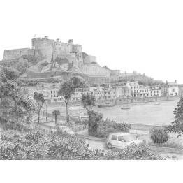 Mount Orgueil Castle, Gorey, Jersey A4 Print