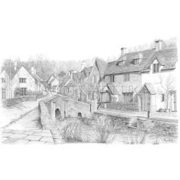 Castle Combe, Wiltshire A4 Print