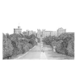 The 'Long Walk', Leading to Windsor Castle, Berkshire A4 Print