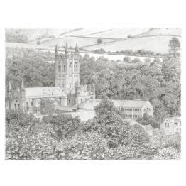 Buckfast Abbey, Devon A4 Print