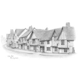 The Swan Hotel, Lavenham, Suffolk A5 Print