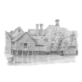 Beaulieu Tide Mill, Hampshire A4 Print
