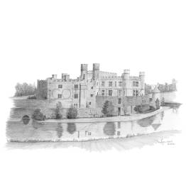 Leeds Castle, Kent A4 Print