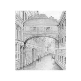 Venice, Bridge of Sighs A4 Print