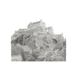 Edinburgh Castle, Scotland 1 A4 Print