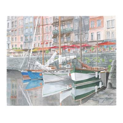 Reflections in the Vieux Bassin, Honfleur