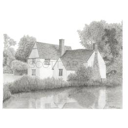 Willy Lott's Cottage, Suffolk A4 print
