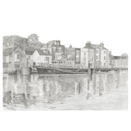 Weymouth, Dorset Life Boat A5 Print
