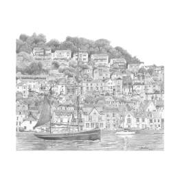 Dartmouth Harbour, Devon A5 Print