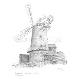 Windmill, Cley next the Sea, Norfolk A5 Print