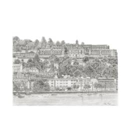 Dartmouth Naval College, Dartmouth A4 Print