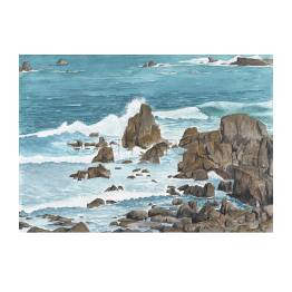 Rocky Shore, South Coast of Guernsey 2 A4 Print